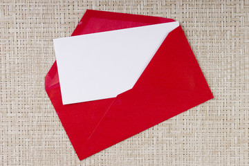 Letter in a red envelope