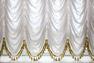 background white curtains