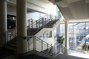 Stairs, stairs in a modern building