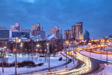 Troparevo district in the winter evening