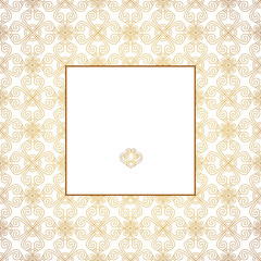 Decorative frame. White background.
