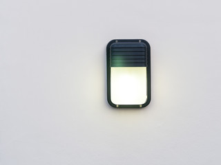 Outdoor lamp on the wall