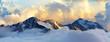 Leinwanddruck Bild - alpine mountain landscape