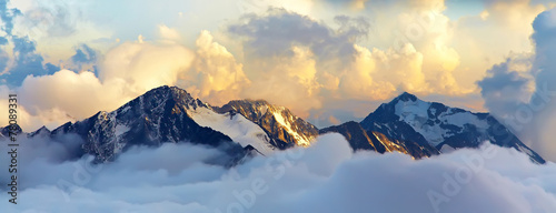 canvas print picture alpine mountain landscape