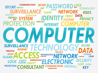 COMPUTER word cloud, security concept