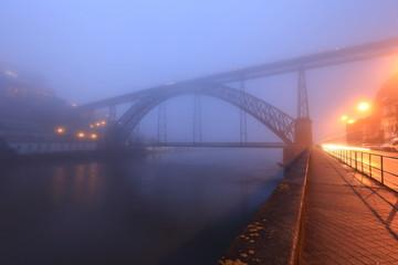 Porto - Bridge D. Luis at night, Portugal