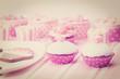 Obrazy na płótnie, fototapety, zdjęcia, fotoobrazy drukowane : dessert table at girls birthday party