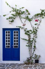 Architectural detail of a house in Paros island, Cyclades, Greec