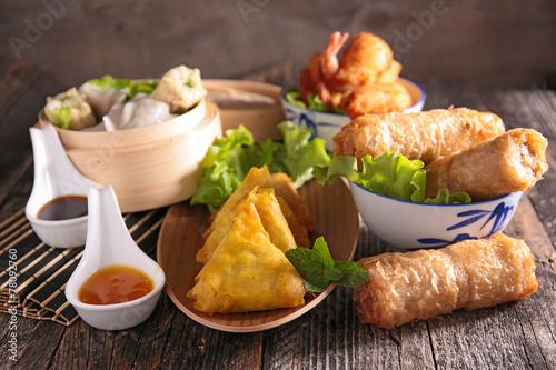 Fotobehang Assortiment assortment of asian cuisine