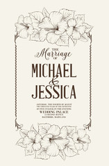 Marriage design template
