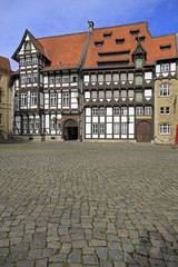 Old timbered houses in Braunschweig