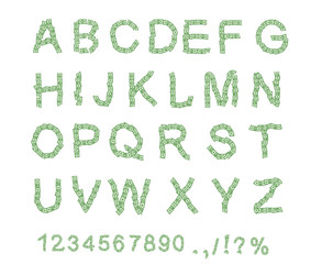 Money font. Letter from dollar. Alphabet of money. The font of d