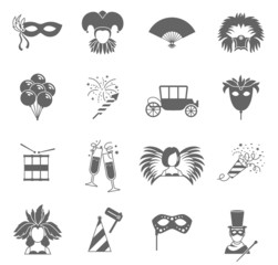 Carnival icons set black