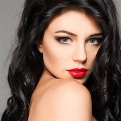 Sensual woman fashion model beauty portrait