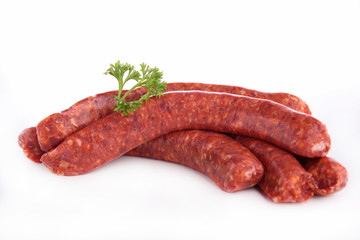raw sausage isolated