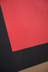 red and black paper for crafts idea