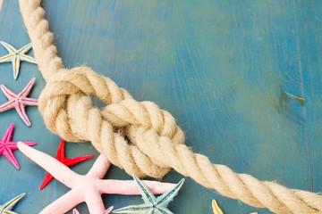 marine rope with starfish