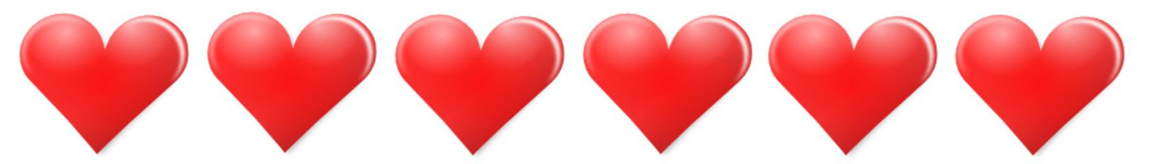 Herzen Rot Banner