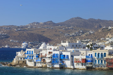 Mykonos seen from the sea