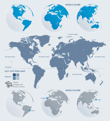 World Map and Globes #Vector Graphics