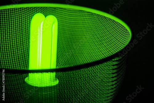canvas print picture Grüne Lampe