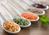 Beans, lentils and peas
