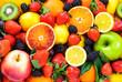 Leinwanddruck Bild - Fresh fruits mixed.Fruits background.