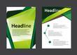 Brochure Flyer design vector template  Green