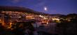 panoramic night view of Dubrovnik. Croatia.