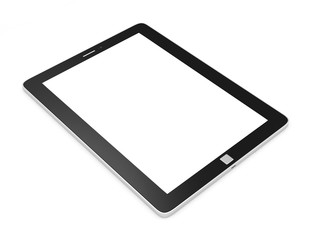 Modern Tablet PC with Blank Screen isolated on white background