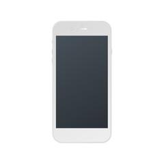 Vector illustration of white modern realistic smartphone