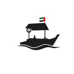 Dubai traditional abra boat