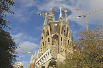 Sagrada Familia Temple in Barcelona