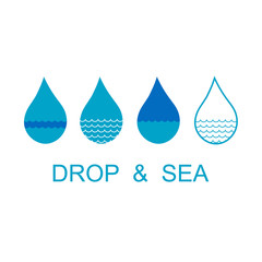 Drop and sea concept