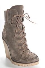 Women's shoes on a high platform sole..