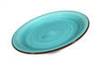 empty green plate on white background