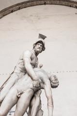 Statue of greek hero Menelaus holding Patroclus in Florence