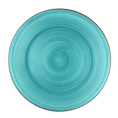 green dish top view