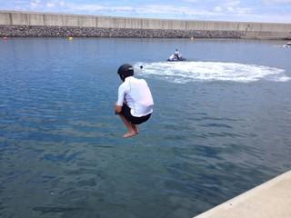 Saltando al mar