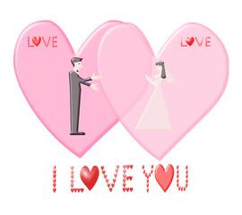 I Love You Illustration