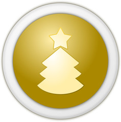 Christmas button yellow