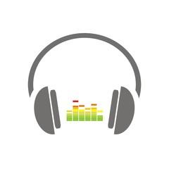 Icono escuchar música color