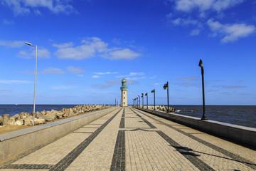 lighthouse at Ras El Bar ,Damietta,Egypt