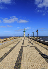 Damietta lighthouse at Ras El Bar,Egypt
