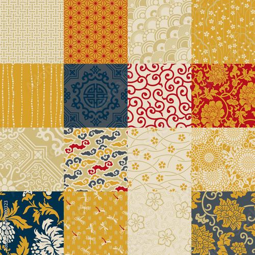Fototapeta Oriental style seamless vector pattern