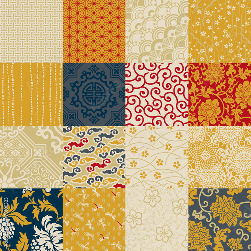 Oriental style seamless vector pattern - 78100323