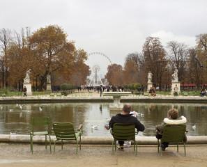 Park of  Louvre Museum.