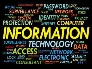 INFORMATION word cloud, security concept