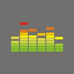 Icono ecualizador color FO