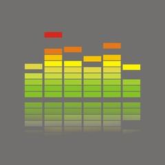 Icono ecualizador color FO reflejo